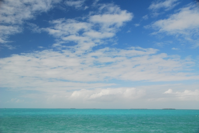 The view from Fort Zachary Taylor